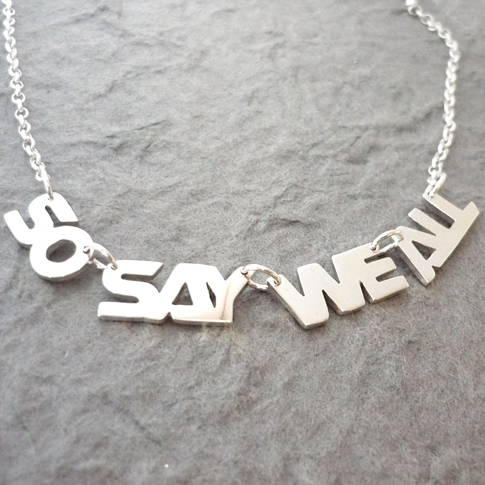 So Say We All BSG-Inspired Handmade Sterling Silver Necklace
