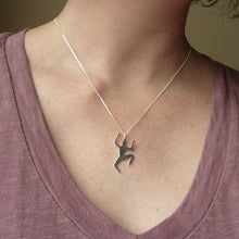 Load image into Gallery viewer, The Fool from Cabin in the Woods Handmade Sterling Silver Pendant