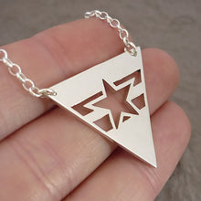 Load image into Gallery viewer, Sterling silver handmade Browncoats symbol Pendant