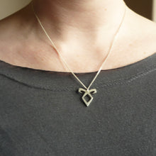Load image into Gallery viewer, Angelic Rune Sterling Silver handmade Pendant