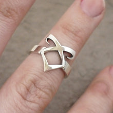 Load image into Gallery viewer, Angelic Rune Sterling Silver handmade Ring