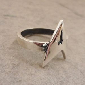 Star Trek handmade Sterling Silver Ring