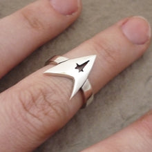 Load image into Gallery viewer, Star Trek handmade Sterling Silver Ring