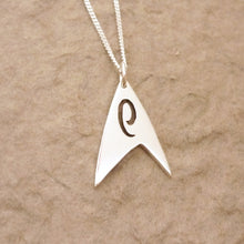 Load image into Gallery viewer, Trek Engineering Sterling Silver Pendant on chain