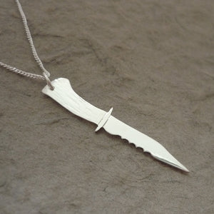 Ruby's Knife - sterling silver handmade pendant on chain
