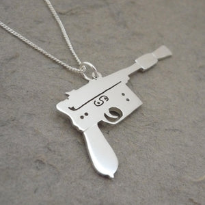 I shot first.. Handmade sterling silver pendant on chain