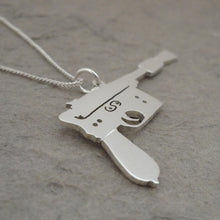 Load image into Gallery viewer, I shot first.. Handmade sterling silver pendant on chain