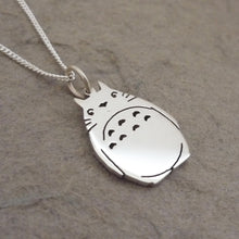 Load image into Gallery viewer, Teeny Tiny Favourite Neighbour Sterling Silver Handmade Pendant on Chain