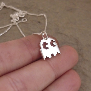 Teeny Tiny Ghostie Pendant on Chain