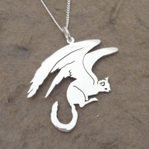 Space Kitty Pendant on Chain