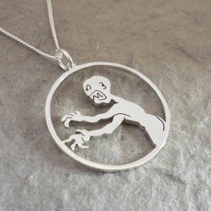 Grrr Aaargh says the Zompire - sterling silver pendant