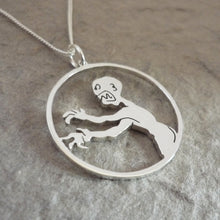 Load image into Gallery viewer, Grrr Aaargh says the Zompire - sterling silver pendant