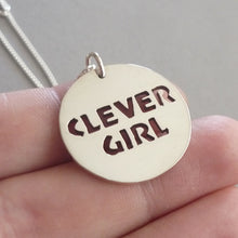 Load image into Gallery viewer, Clever Girl Sterling Silver Handmade Pendant