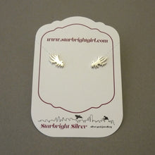 Load image into Gallery viewer, Angel Wing Sterling Silver Stud Earrings