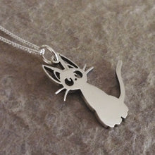 Load image into Gallery viewer, Jiji Kitty Sterling Silver Handmade Pendant