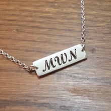 Load image into Gallery viewer, Custom Name or Initial Rectangle Necklace