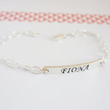 Load image into Gallery viewer, Custom Sterling Silver Name Bracelet