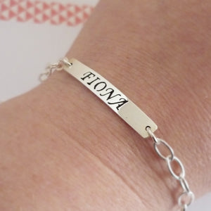 Custom Sterling Silver Name Bracelet