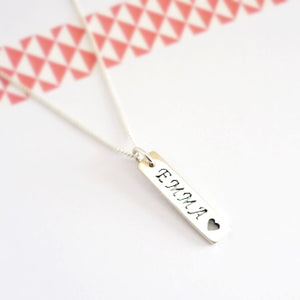 Custom Sterling Silver Name Charm