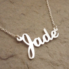 Load image into Gallery viewer, Custom Sterling Silver Name Necklace
