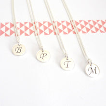Load image into Gallery viewer, Custom Sterling Silver Initial Disc Charms