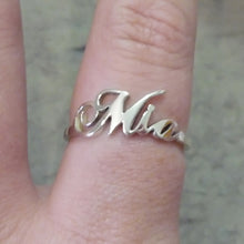Load image into Gallery viewer, Custom Sterling Silver Name Ring