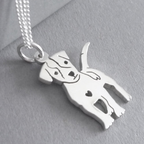Jack Russell Pendant on Chain