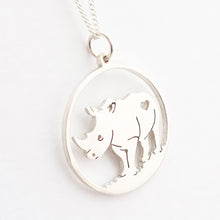 Load image into Gallery viewer, Rhino Pendant on Chain