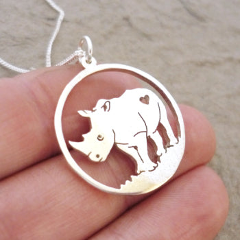 Rhino Pendant on Chain