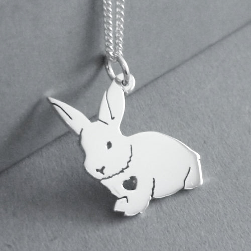 Fluffy Bunny Pendant on Chain