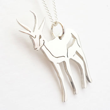 Springbok Pendant on Chain