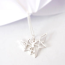 Load image into Gallery viewer, Origami Fox Pendant on chain
