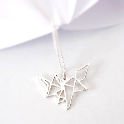Origami Fox Pendant on chain