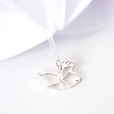 Origami Squirrel Pendant on chain