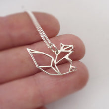 Load image into Gallery viewer, Origami Squirrel Pendant on chain