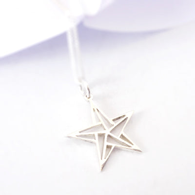 Origami Star Pendant on chain