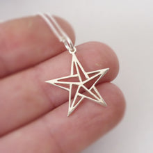 Load image into Gallery viewer, Origami Star Pendant on chain