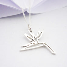 Load image into Gallery viewer, Origami Strelitzia Pendant on chain
