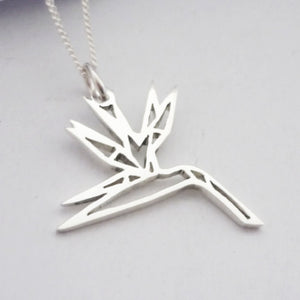 Origami Strelitzia Pendant on chain