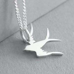 Tiny Swallow Pendant on Chain