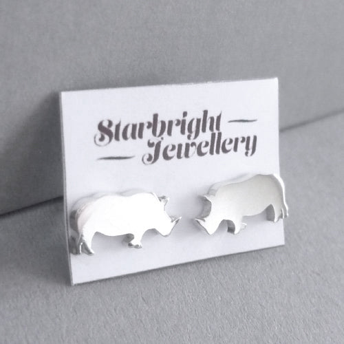 Rhino Stud Earrings