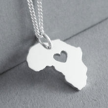 Load image into Gallery viewer, Africa with Heart Pendant on Chain