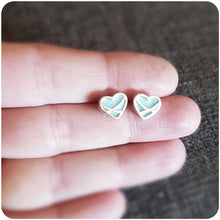 Load image into Gallery viewer, Heart Crossover Resin Stud Earrings
