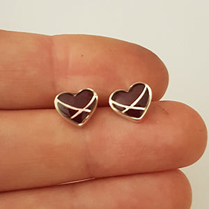 Heart Crossover Resin Stud Earrings