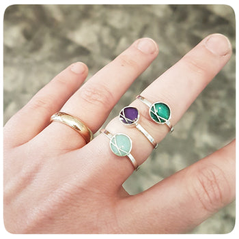 Circle Crossover Resin Ring