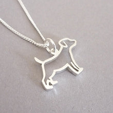 Load image into Gallery viewer, Sterling Silver Silhouette Doggy Pendant