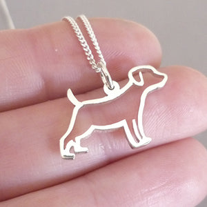 Sterling Silver Silhouette Doggy Pendant