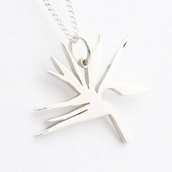 Strelitzia Pendant on Chain
