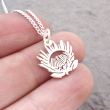 Load image into Gallery viewer, Tiny Protea Pendant on Chain