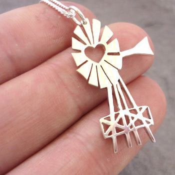 Windmill Pendant on Chain